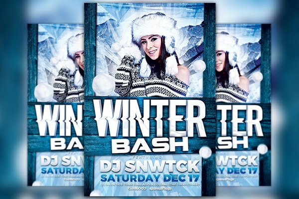 Winter Party Flyer Template Vol. 4
