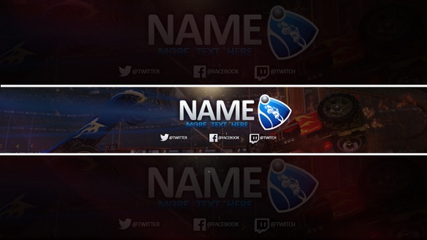 FREE YOUTUBE BANNER TEMPLATE (ROCKET LEAGUE)