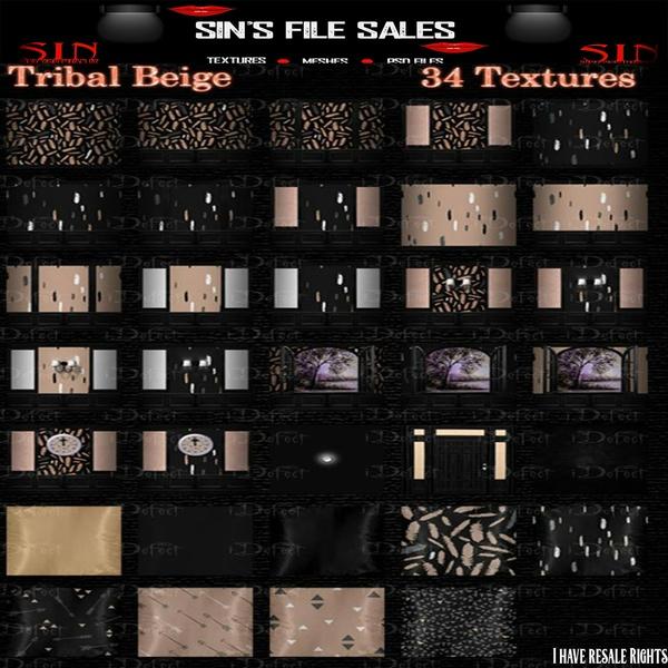 Tribal Beige Texture Pack