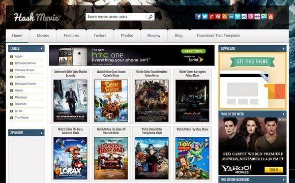 Hash Movie Blogger Template Premium Version