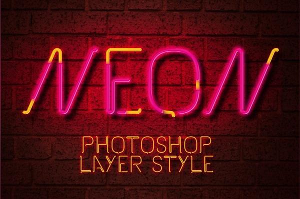 Neon Photoshop Layer Style