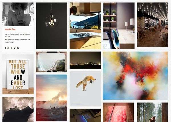 Narnia Two - Flexible grid based Tumblr theme