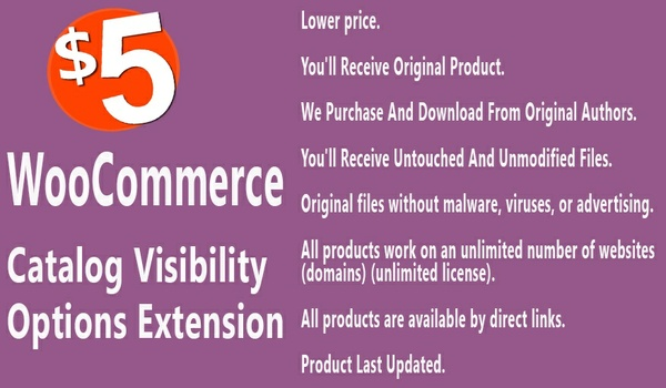 WooCommerce Catalog Visibility Options Extension