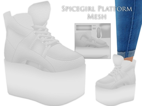 IMVU Mesh - Shoes - Spicegirl Platforms