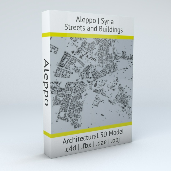 Aleppo Streets and Buildings Architectural 3D Model