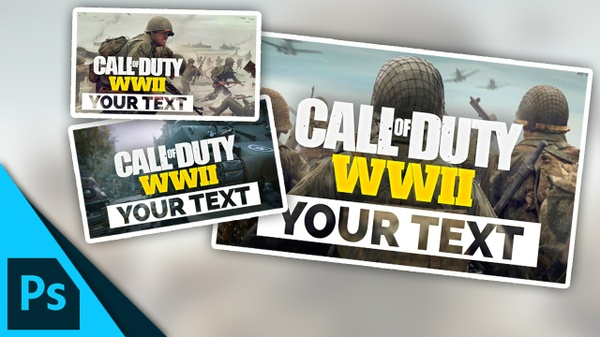 Call of Duty: WW2 Thumbnail Template | Free Photoshop Template [YouTube]