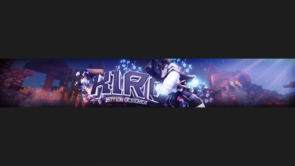 Minecraft Banner For YouTube or Twitter! :3