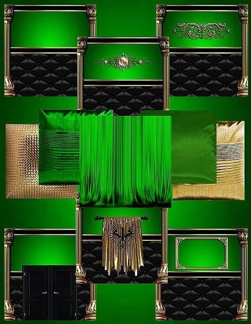 IMVU Green Gold Texture Set