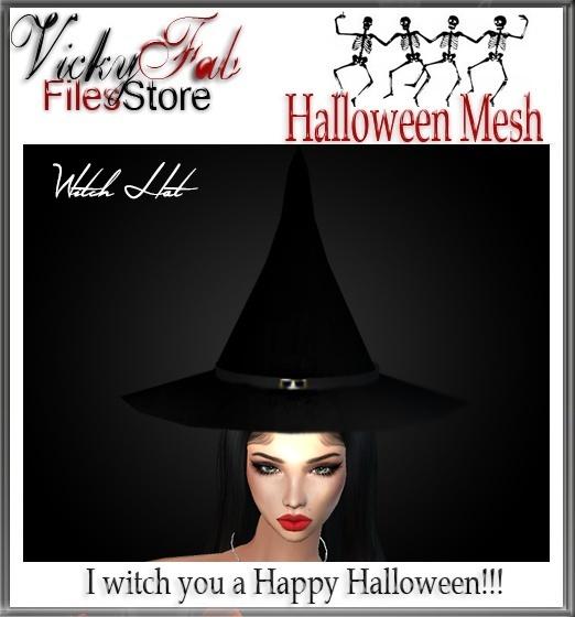 Halloween Witch Hat Mesh