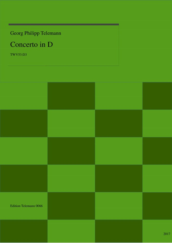 Concerto in D TWV53:D3