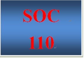SOC 110 Week 2 Creating an Agenda