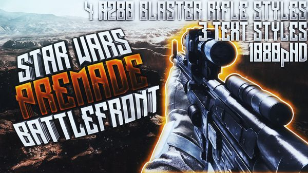 A280 Blaster Rifle Thumbnail Pack - Star Wars Battlefront - YouTube Thumbnail Template