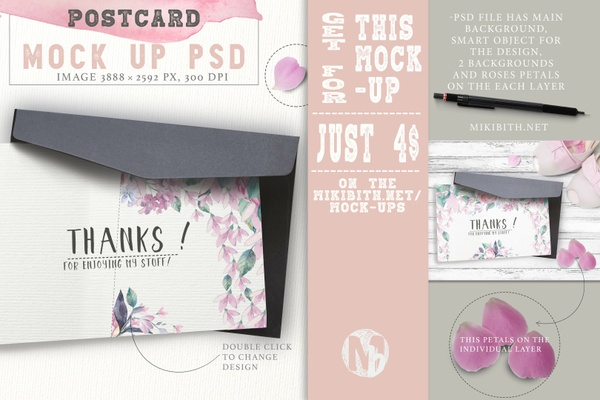 post-card mock-up psd