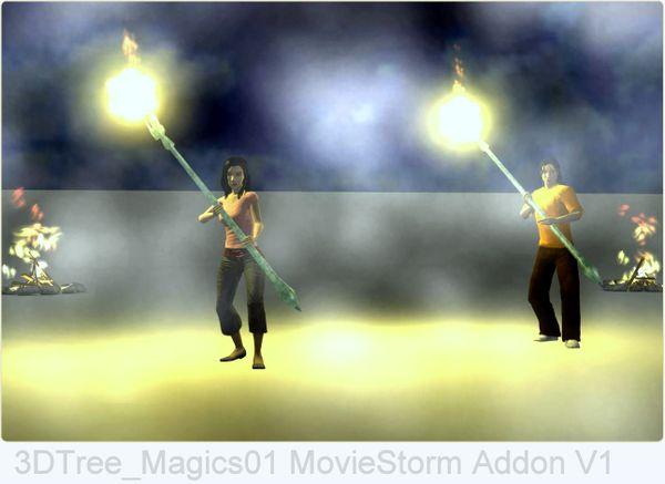 3DTree Magics01 Staff motions