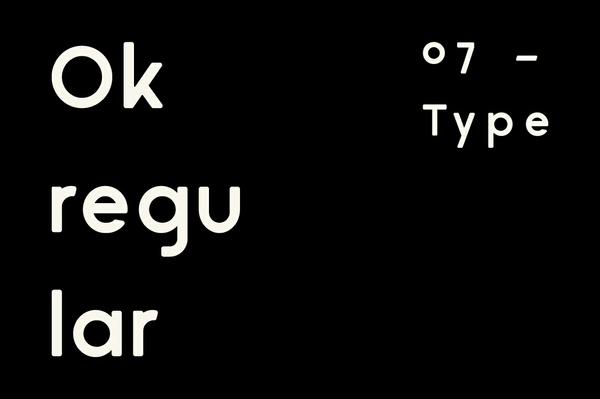Ok ®egular — Typeface