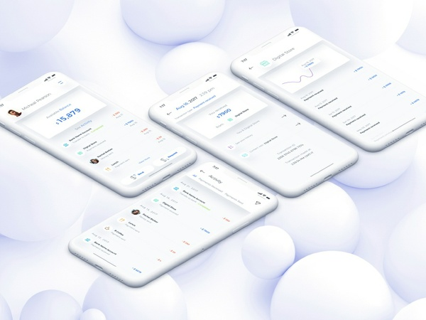 AB Wallet Mobile App for IPhoneX