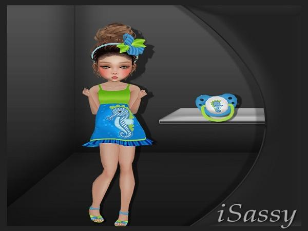 Kids Seahorse fit - PNG