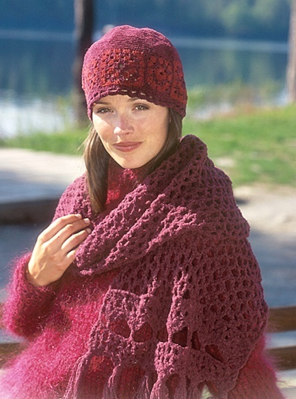 Ruby Red Scarf & Hat
