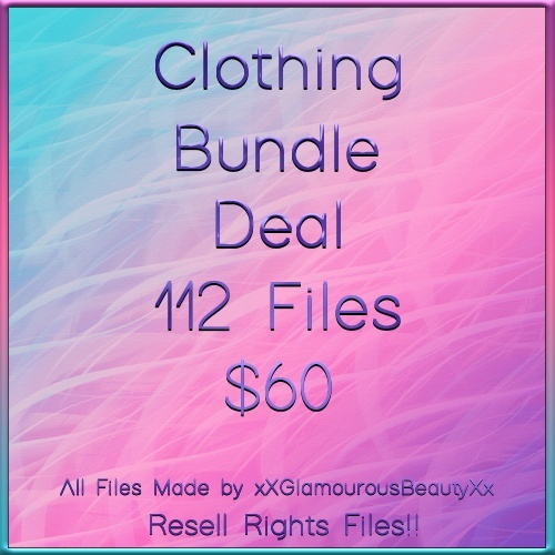 Clothing Bundle Deal B 112 Files RESELL RIGHTS