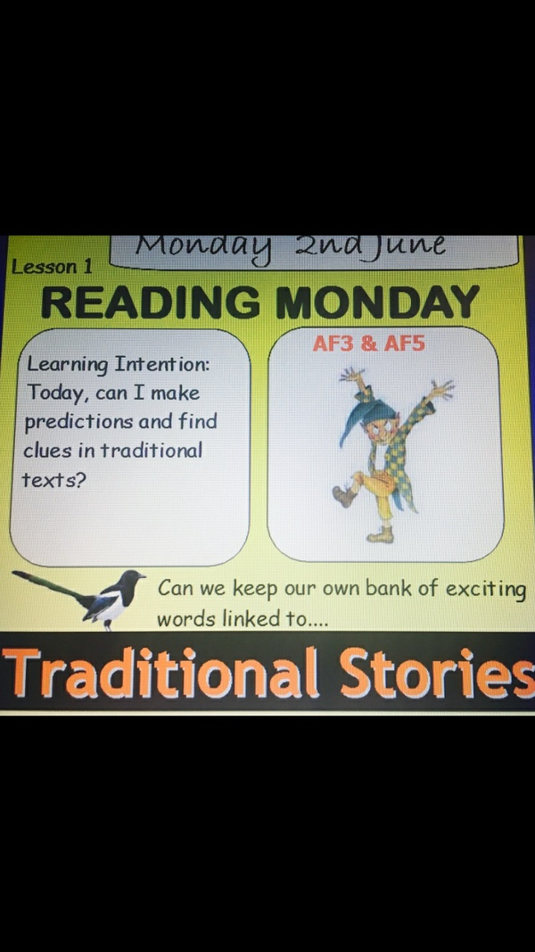 Traditional Tales Year 1 AND  2 - Week of ACTIVE PRIMARY FLIPCHART SLIDES