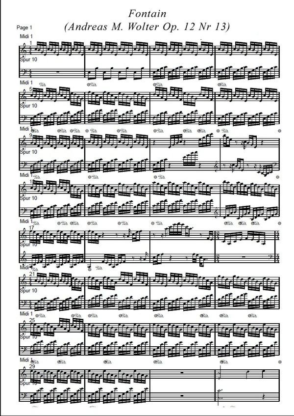 Fontain  (Andreas M. Wolter Op. 12 Nr 13)