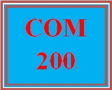 COM 200 Week 5 Conflict Management Plan