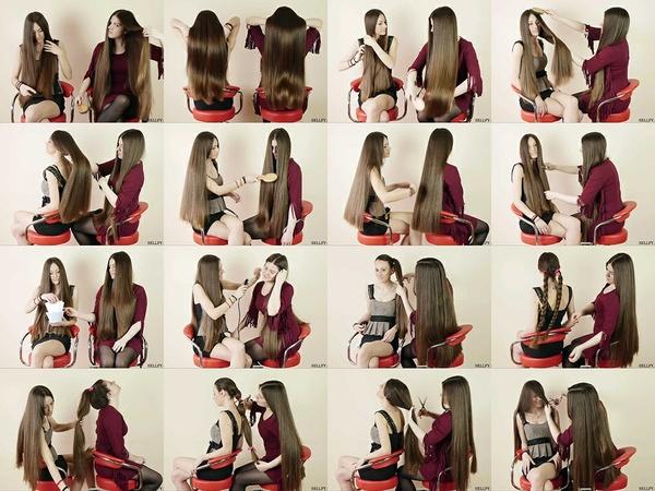 Suzana and Helena Hair Game Show