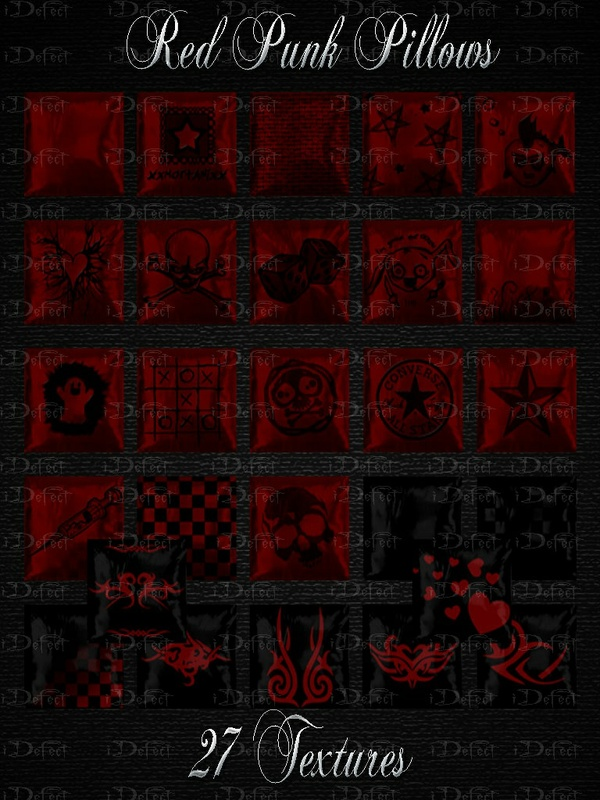 Red Punk Pillows