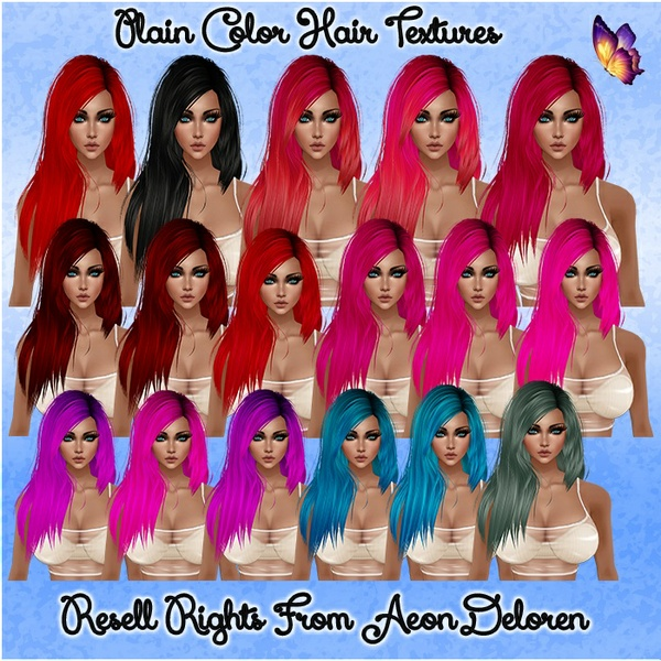 Plain Colors Hair Textures Catty Only!!!