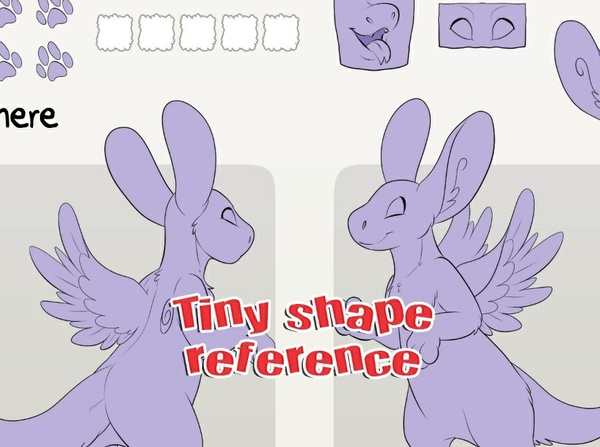 Tiny Shape Angel Dragon Reference