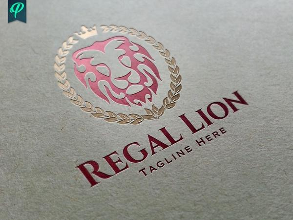 Regal Lion Logo Template