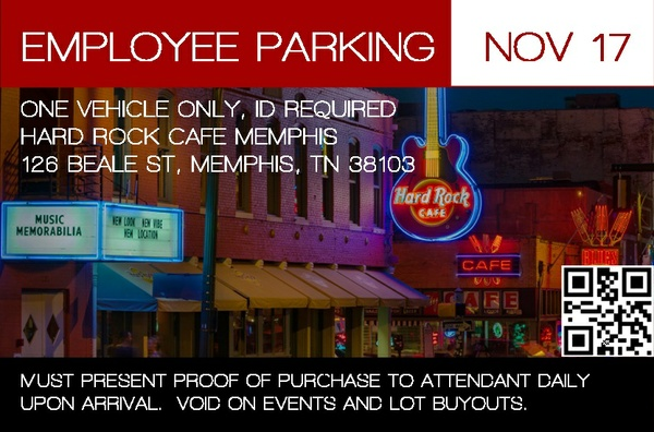 Hard Rock Memphis Employee Permit - November 2017