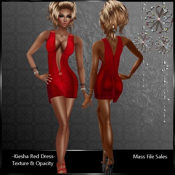 IMVU Kiesha Red AP Dress