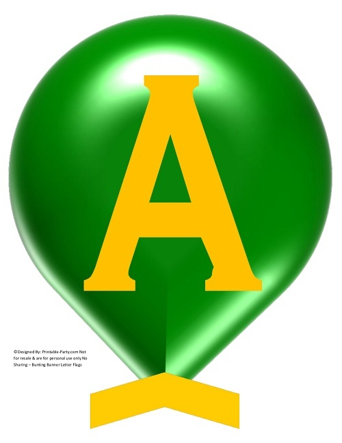 LARGE-GREEN-YELLOW-BALLOON-PRINTABLE-BANNER-LETTERS-A-Z-0-9