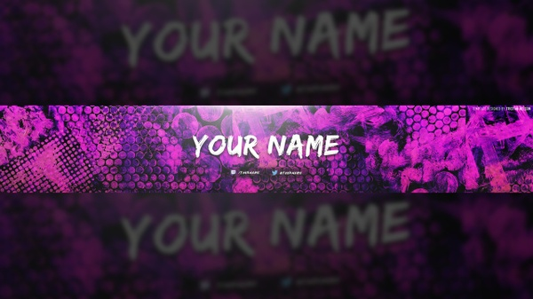 Colorful Texture YouTube Banner Template