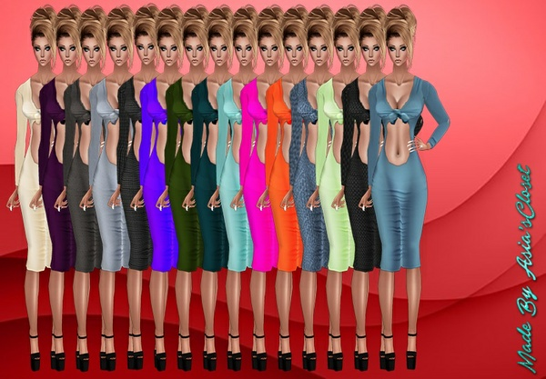 Kelia Plain Dresses