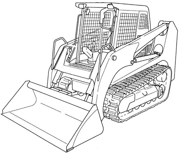 GEHL CTL55 Compact Track Loader Service Repair Manual Download