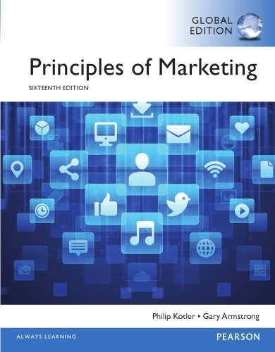 Principles of Marketing 16th edition ( Global Edition )  ( PDF, Instant download )
