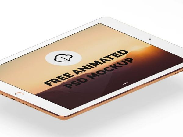 Free Animated iPad Air 2 Photoshop (psd) Mockup – Perspective