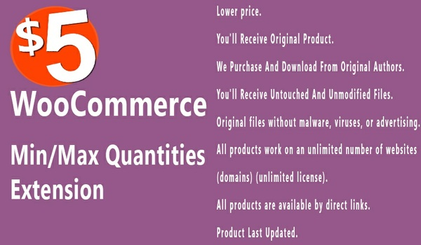 WooCommerce Min Max Quantities 2.4.1 Extension