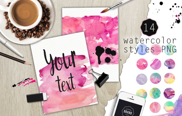 Watercolor styles