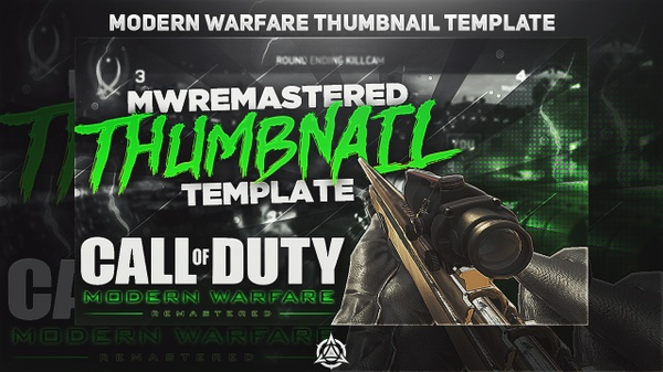 COD: Modern Warfare Remastered Thumbnail Template PSD v1