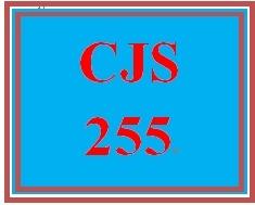 CJS 255 Entire Course