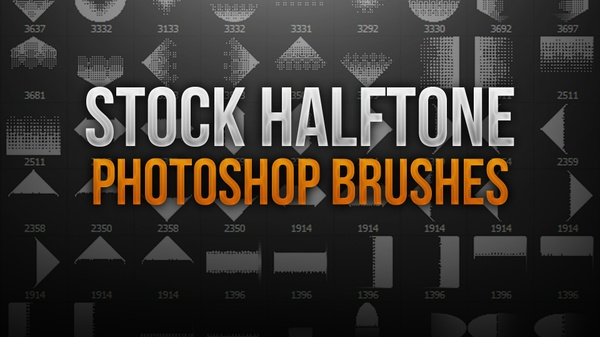 Halftone Stock Photoshop Brush Pack