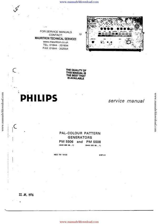 Philips PM5506 Service Manual