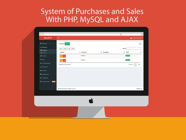 System of Purchases and Sales With PHP, MySQL and AJAX