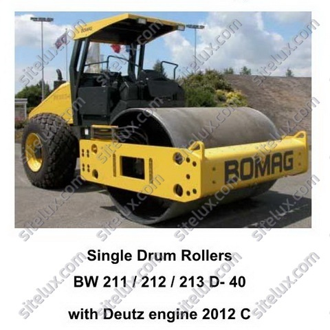 Bomag BW 211/212/213 D-40 Single Drum Rollers Service Training