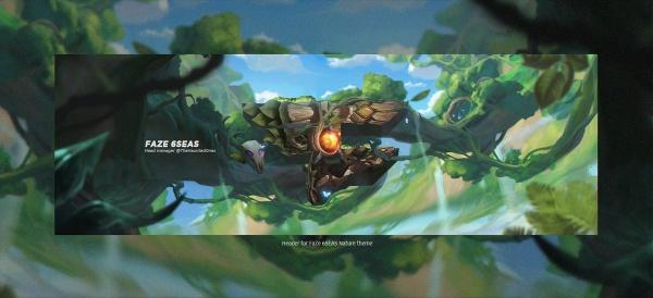 Header for Faze 6SEAS | Template PSD File