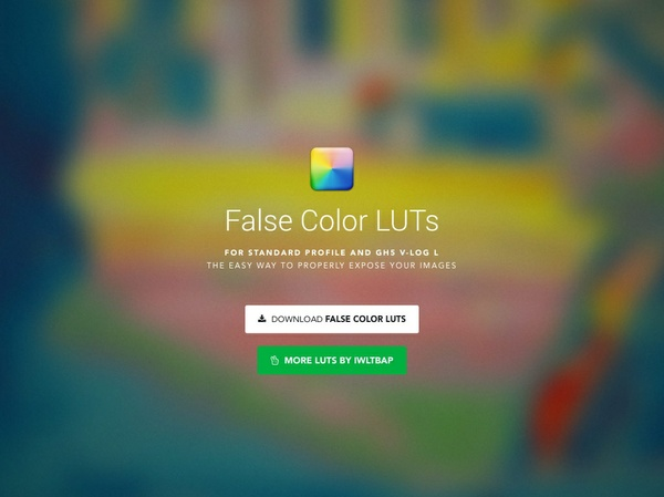 False Color LUTs (for Rec.709 & V-Log L)