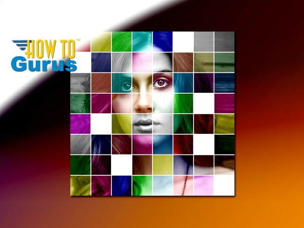 How to Make a Multi-Color Mosaic Photo Manipulation in Photoshop Elements 15 14 13 12 11 Tutorial